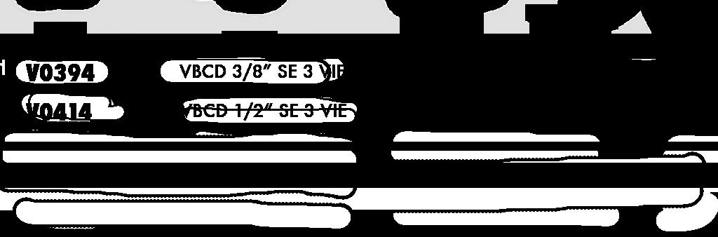 Параметры трехлинейного тормозного клапана одностороннего действия VBCD SE 3 VIE