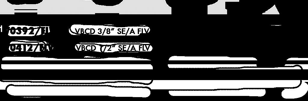 Параметры тормозного клапана одностороннего действия болтового крепления VBCD SE/FLV