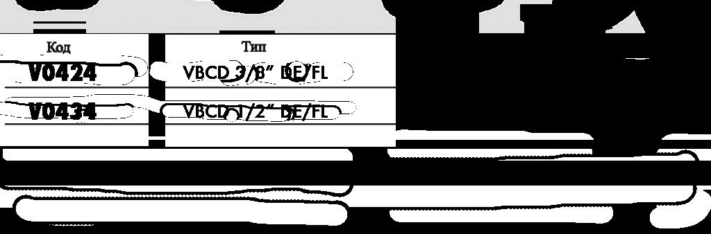 Параметры тормозного фланцевого клапана двухстороннего действия VBCD DE/FL