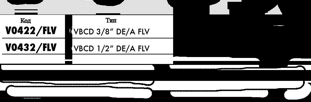Технические параметры тормозного клапана двухстороннего действия болтового крепления