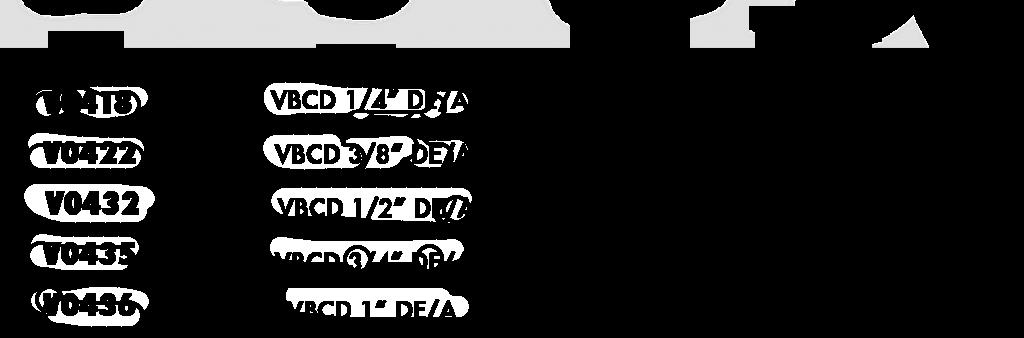 Технические параметры тормозного клапана двухстороннего действия VBCD DE/А
